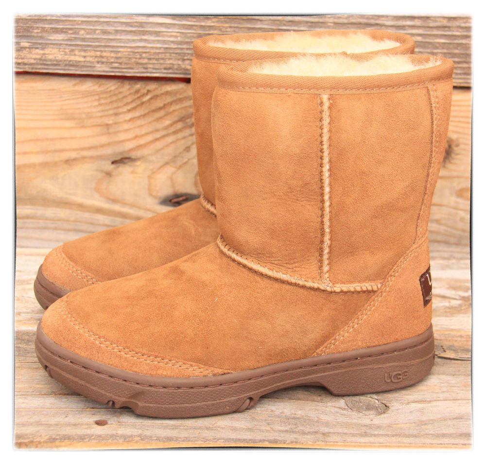 51550768a21 UGG Australia Big Kids Classic Ultimate Chestnut Short Boots US 3 ...
