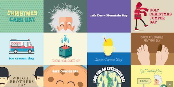 Quirky Illustrated Calendars : creative advent calendar