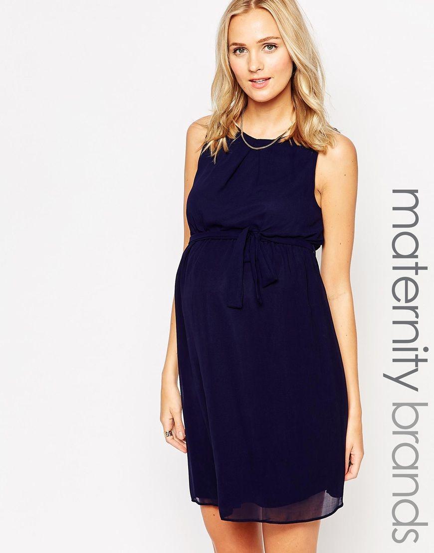 Imagen 1 de vestido de chifn de new look maternity ropa de shop new look maternity chiffon dress at asos ombrellifo Choice Image