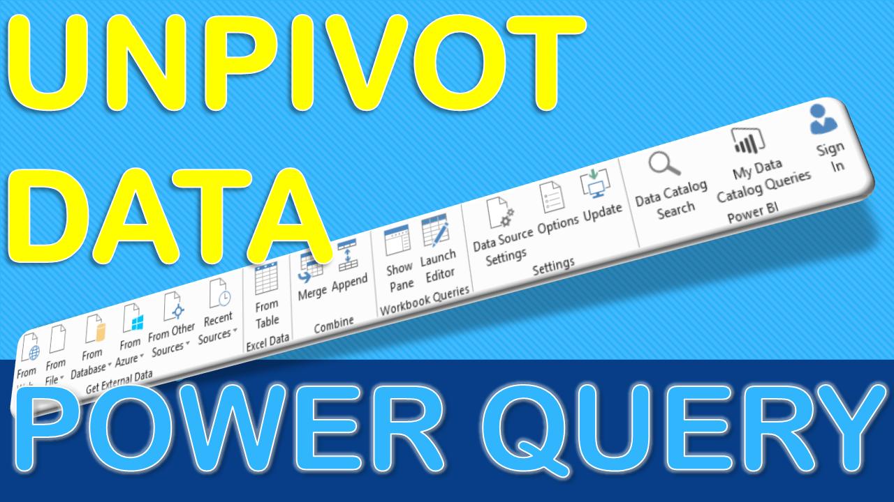 Unpivot Data Using Excel Power Query Microsoft excel