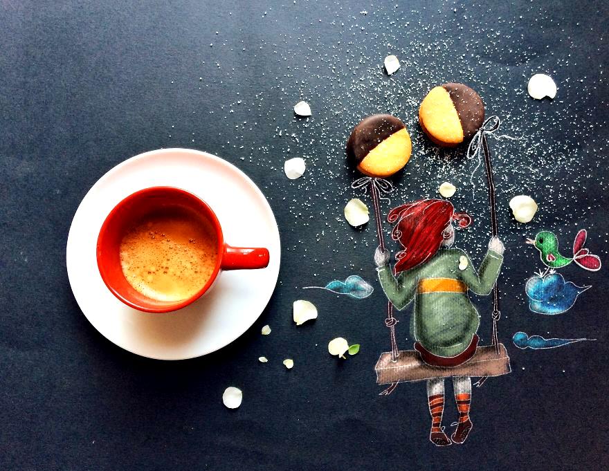 кофе открытка креатив эта дама просто
