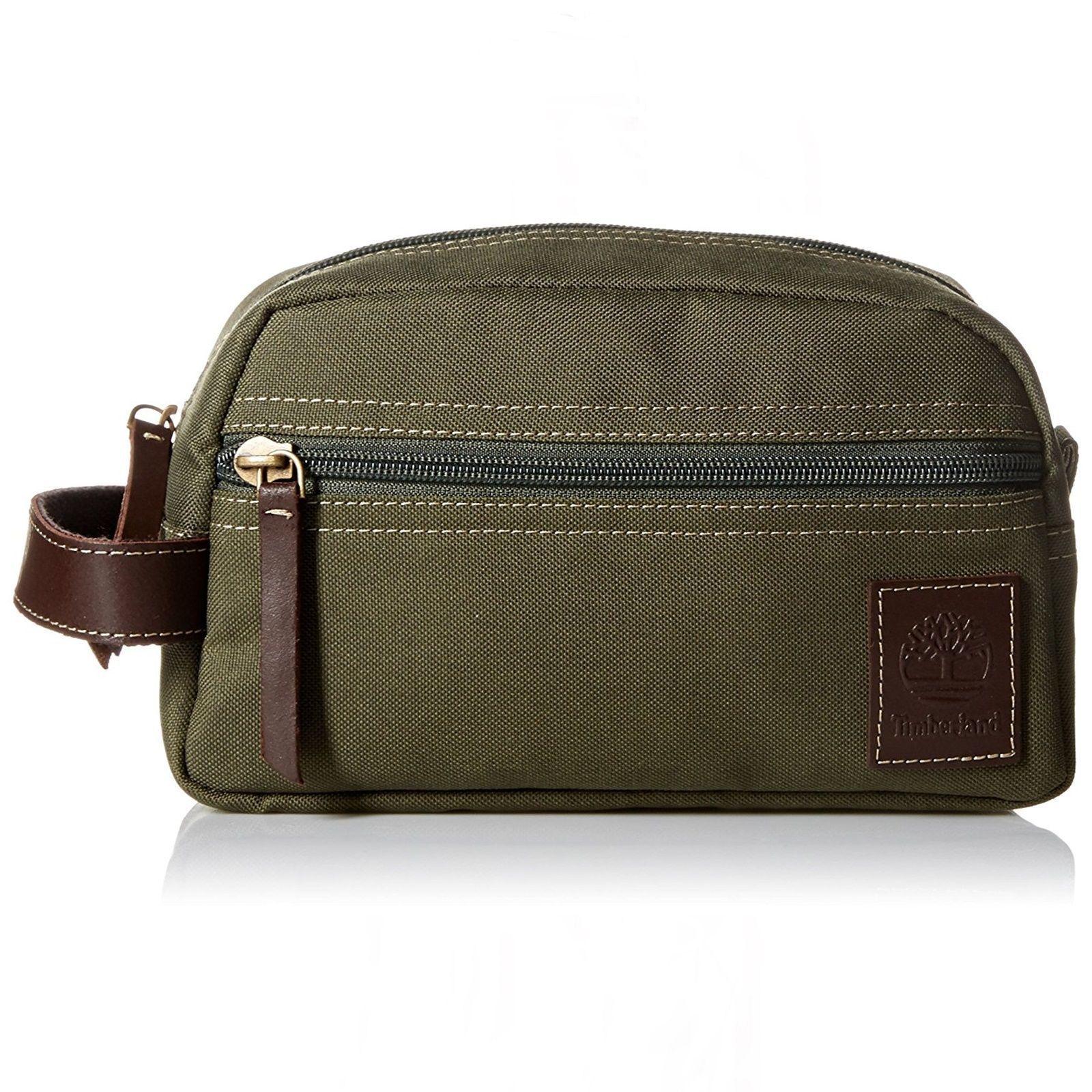 c443390c7c Timberland Men S Canvas Travel Kit Organizer Toiletry Bag Overnight Dopp Kit