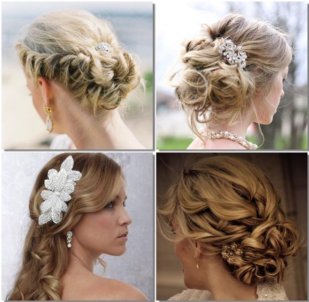 los recogidos de aspecto desenfadado siguen siendo los preferidos por muchas novias para el gran da peinados de