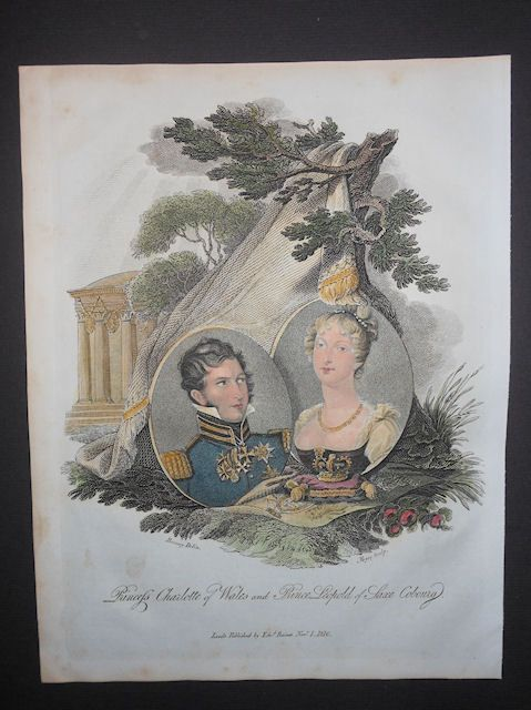 Princess Charlotte Of Wales Prince Leopold Of Saxe King Of Prussia 1816 H/Color