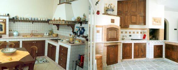 risultati immagini per progetto cucina in muratura 3d | cucina in ... - Piastrelle Cucina In Muratura