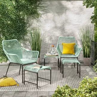 Small Spaces Big Style Shop Target For Bistro Sets Small Space Patio Furniture For In 2020 Patio Furniture Collection Outdoor Furniture Sets Conversation Set Patio