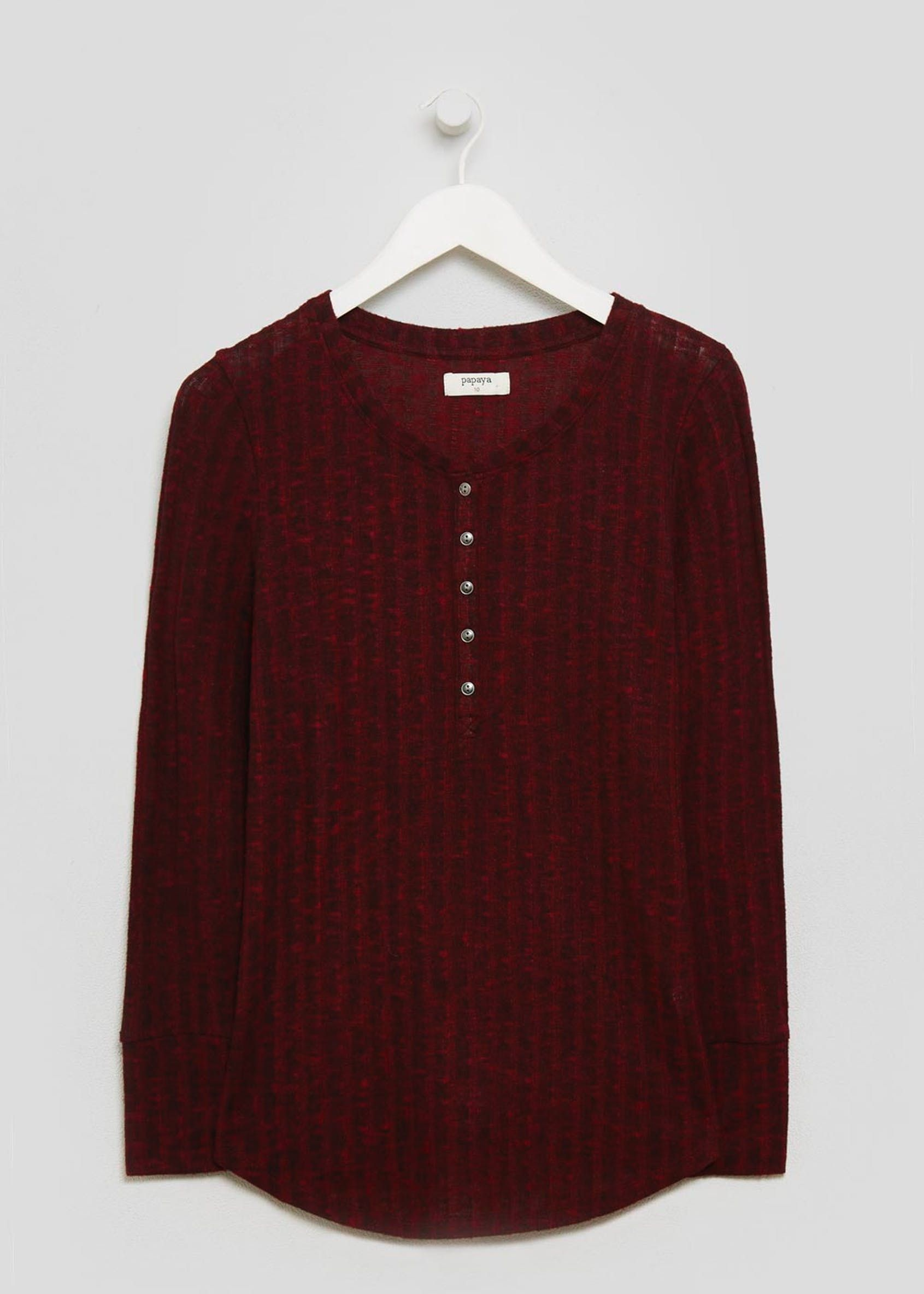 b42498790848 Ribbed Henley Top