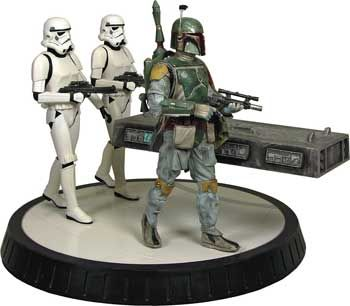 Star Wars Statue - Boba Fett & Han Solo in Carbonite. My husband just died when I showed him this.