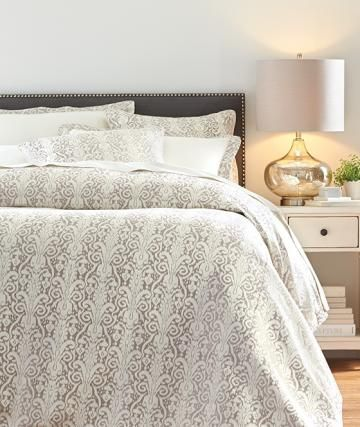A little metallic makes this bedding a statement maker homedecorators com reviveyourhome