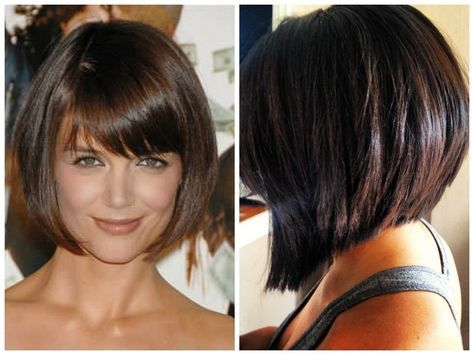 Inverted Bob With Bangs Medium Length Angled Bob Haircut With Bangs Stacked Bob Haircut Bob Haircut With Bangs Chinese Bob Hairstyles