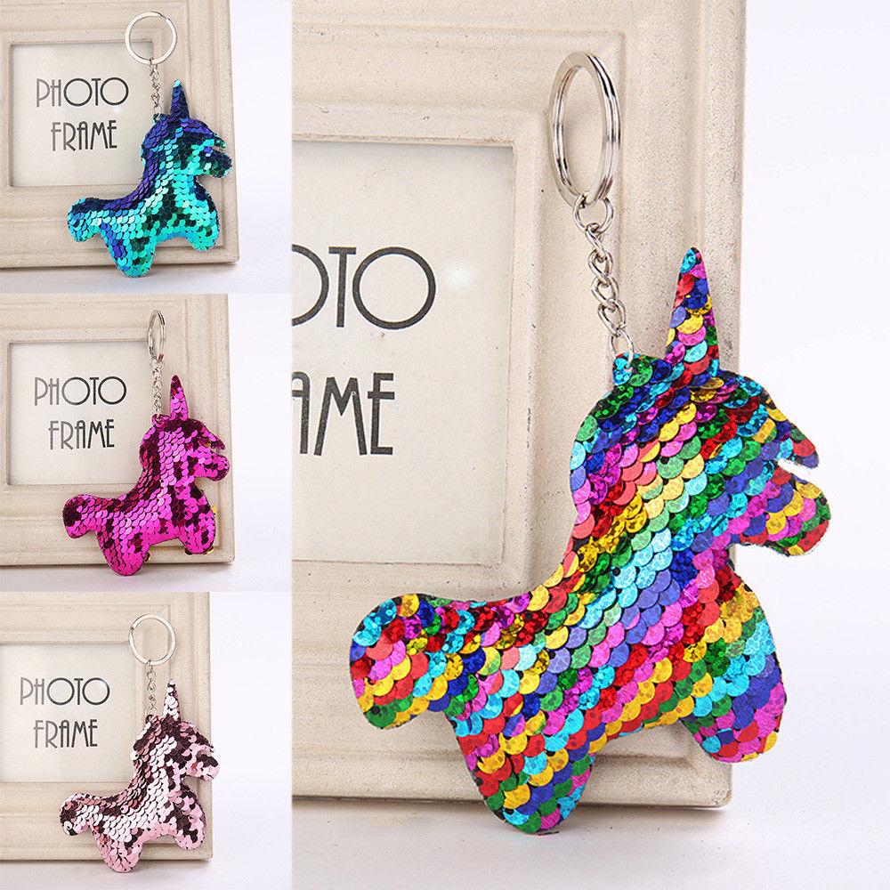 ,4 designs you chose name bag charm Personalised Unicorn blue glitter keyring