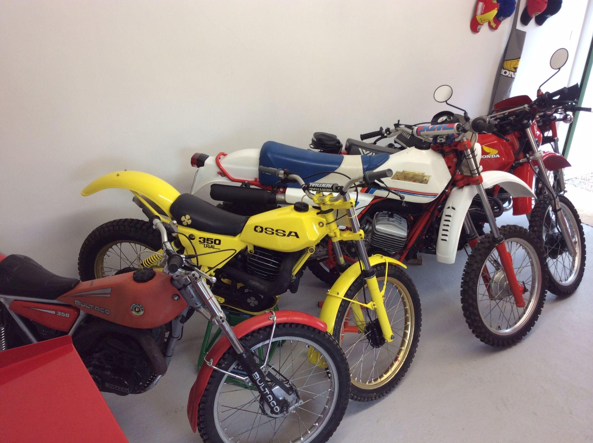 Vintage off road motorcycles