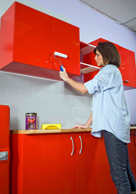 Les Techniques Pour Appliquer De La Resine Sur Des Meubles De Cuisine Meuble Cuisine Repeindre Meuble Cuisine Peinture Meuble Cuisine