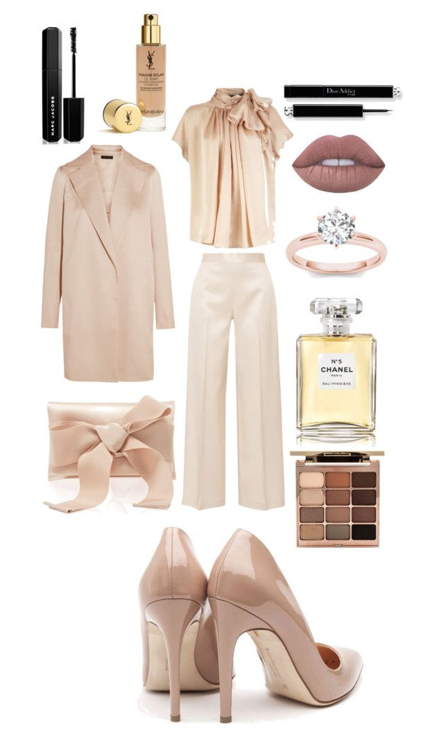 """""""The Campaign 1"""" by yurikasigit-yms ❤ liked on Polyvore featuring The Row, Rupert Sanderson, Oscar de la Renta, Chanel, Stila and Marc Jacobs"""