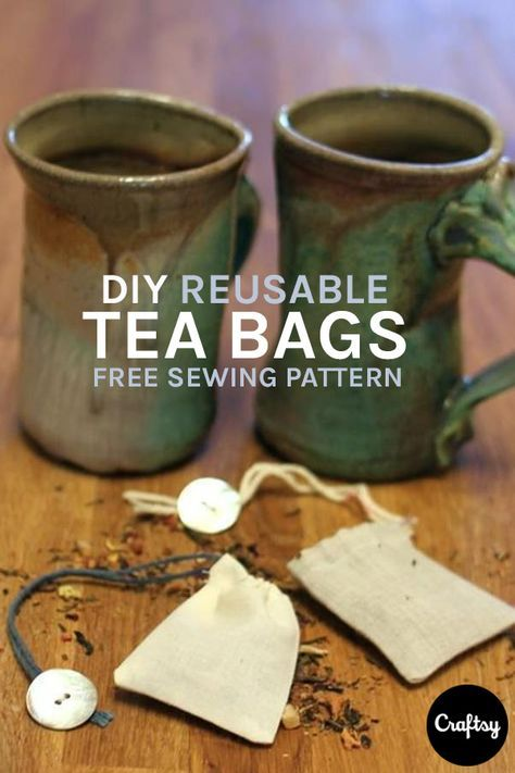 Fabric Tea Bag Sustainable Living Recycling Zero Waste