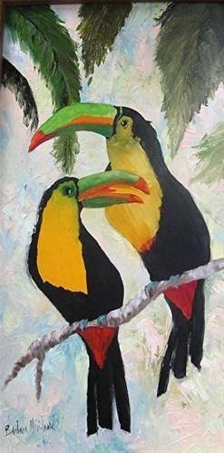 Keel Billed Toucans Oil Barbara Haviland Barbara Haviland Parrots Art Bird Art Art