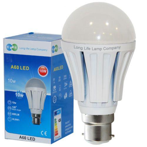 10 Watt Led Light Bulb Gls 800 Lumens B22 Bayonet Cap Beautiful Warm White 5055875522480 Ebay Led Light Bulb Light Bulb Bulb