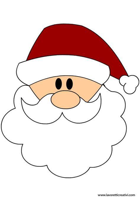 Moldes De Santa Claus En Fieltro Para Imprimir Santa Face Christmas Crafts Christmas Templates