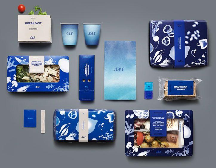 Bold Scandinavian Airlines Rebrand Airline Food Food Branding Food Packaging Design