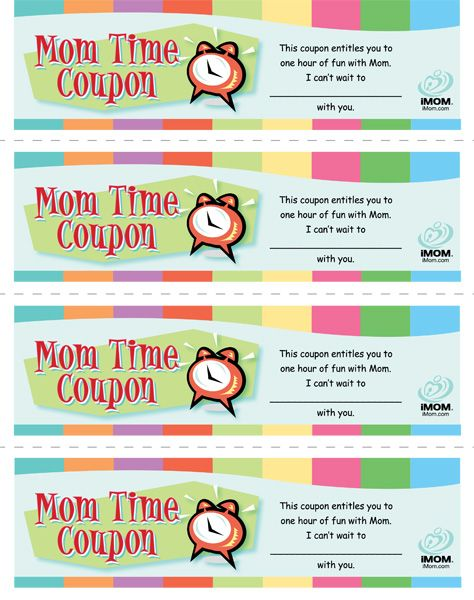 Mom Time Coupons Imom Kids Parenting Pro Dad Love My Kids