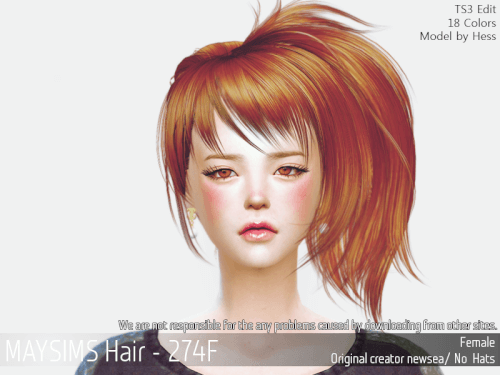Volumnous Side Ponytail Hair For The Sims 4 The Sims 4