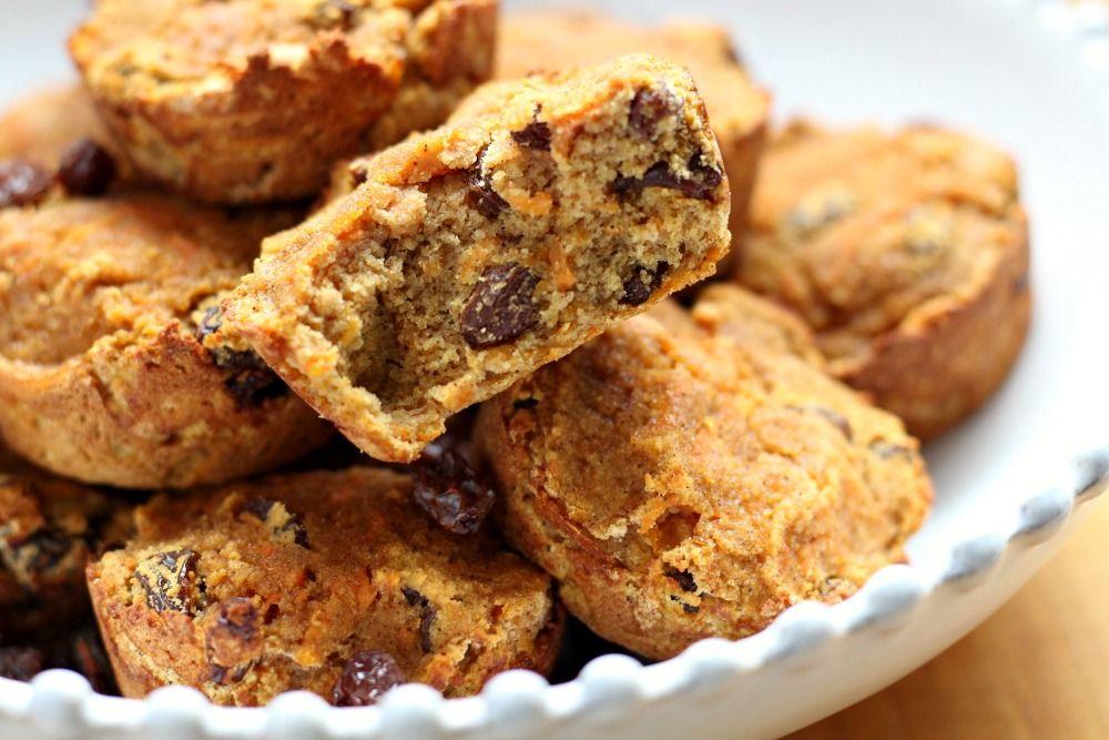 Coconut flour carrot raisin muffins paleo nut free