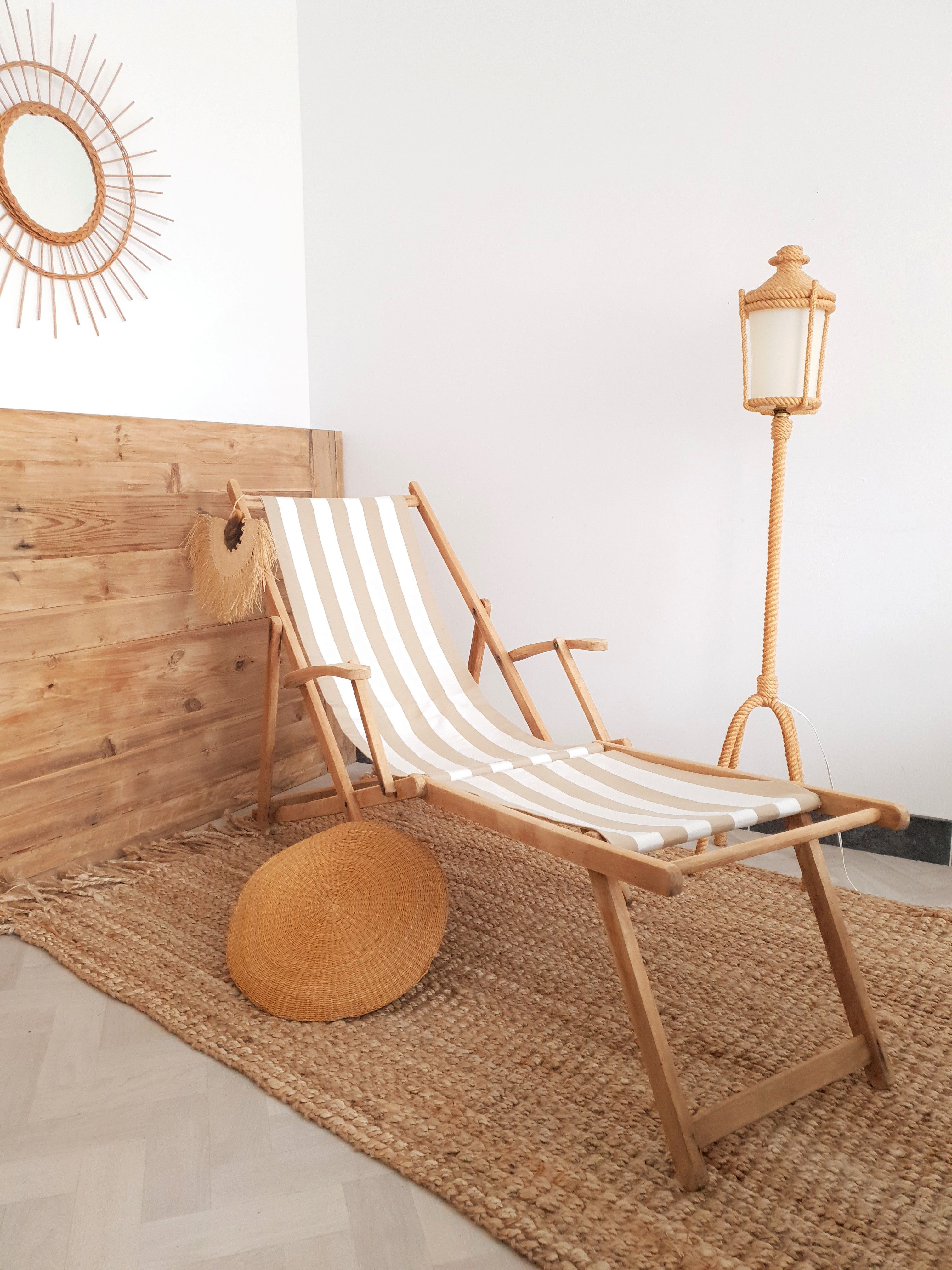 Chilienne vintage  Chaise longue bois, Chaise longue, Chaise