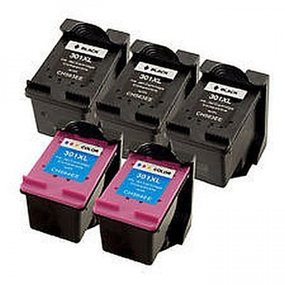 3 Xblack 2 X Colour Hp 301 Ink Cartridge Multipack 5 Cartridges