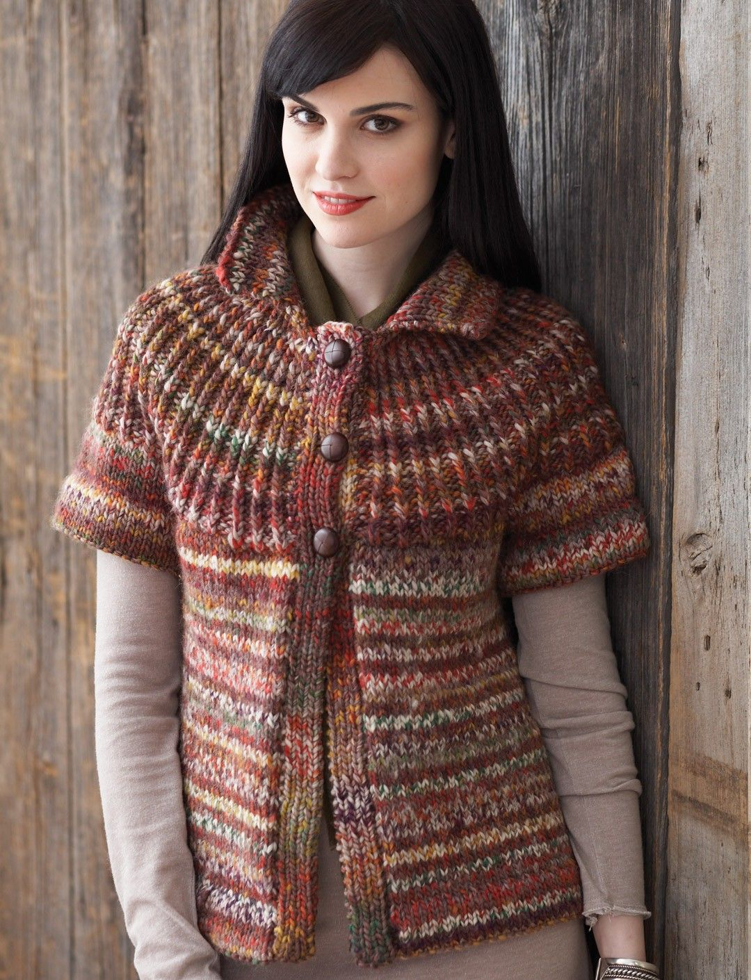 Yarnspirations patons rib yoke cardigan patterns ravelry rib yoke cardigan pattern by patons bankloansurffo Images