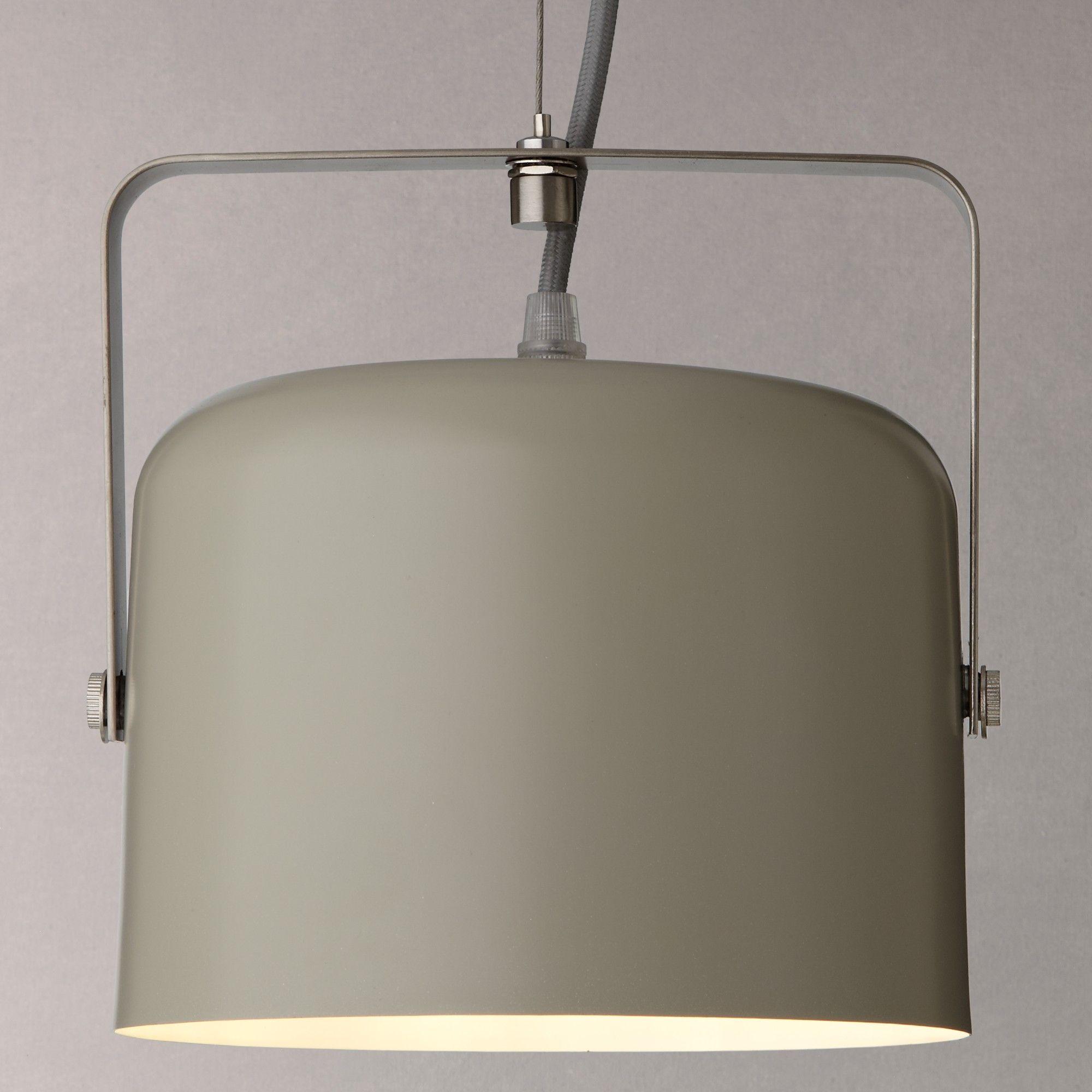 John Lewis Bjorn Single Flood Ceiling Light, Putty