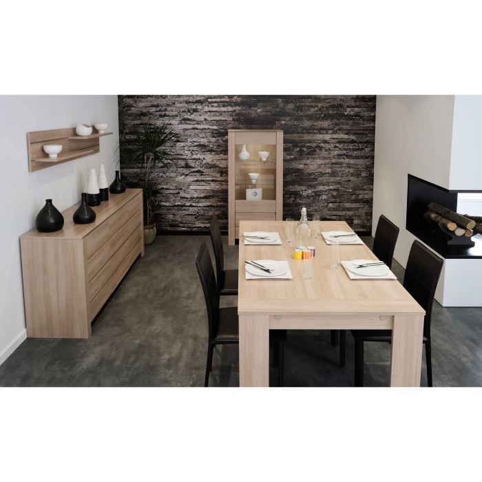 SOHO Salle à manger complète décor Bruges 4 pièces 1 table à manger