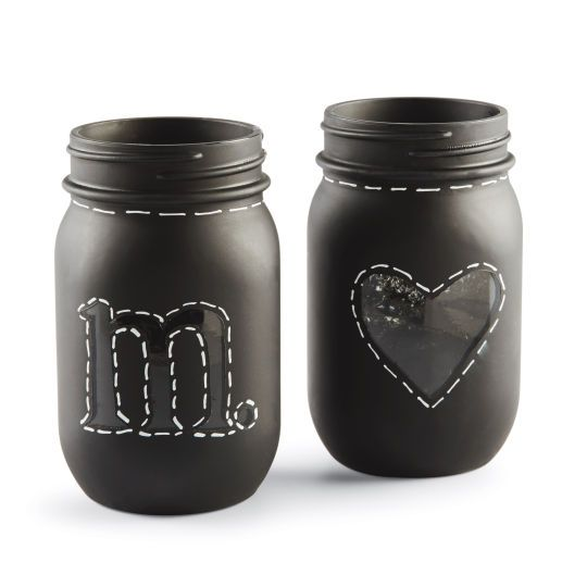 Create fun storage jars, flower vases, and more with chalkboard paint!