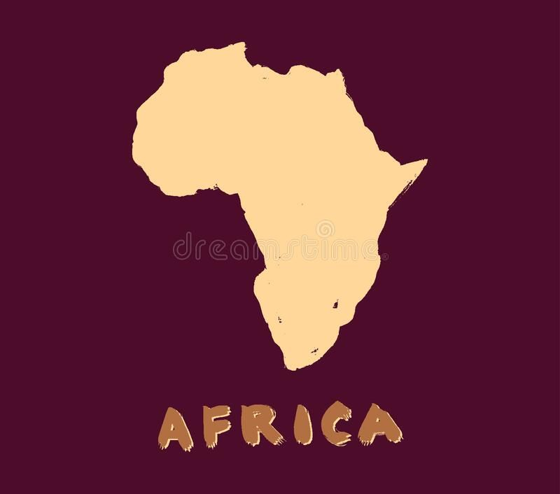 Africa Map Icon Grunge Ink Black Silhouette Simple Style Vector Isolated Image Of African Continent Doodle Drawing Stock Doodle Drawings Map Icons Africa Map