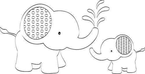 Elefantes Apliques De Elefante Sellos Digitales Bordados Para Bebes