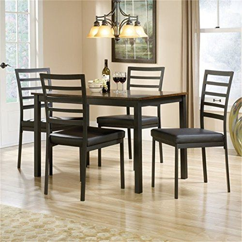 Bowery Hill 5 Piece Dining Set In Black