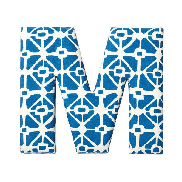 Fabric Letter M Blue
