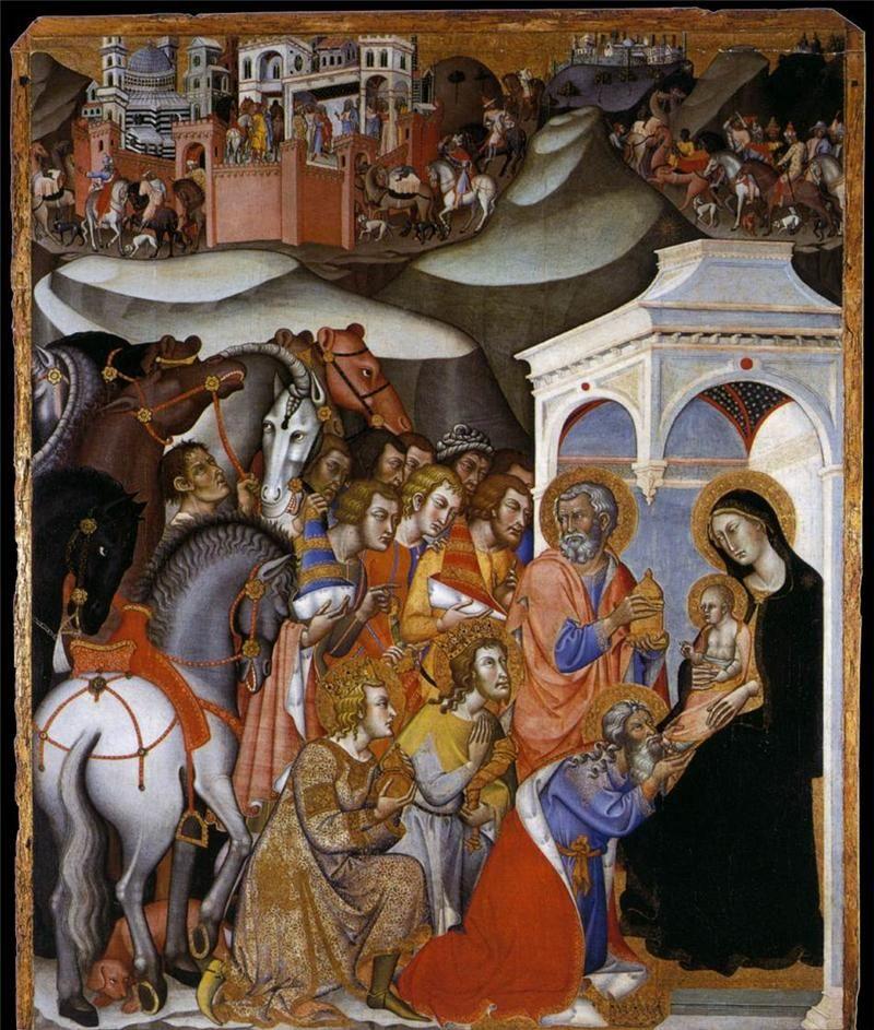 BARTOLO DI FREDI - Adorazione dei Magi - 1385-88 - Pinacoteca Naz. di Siena