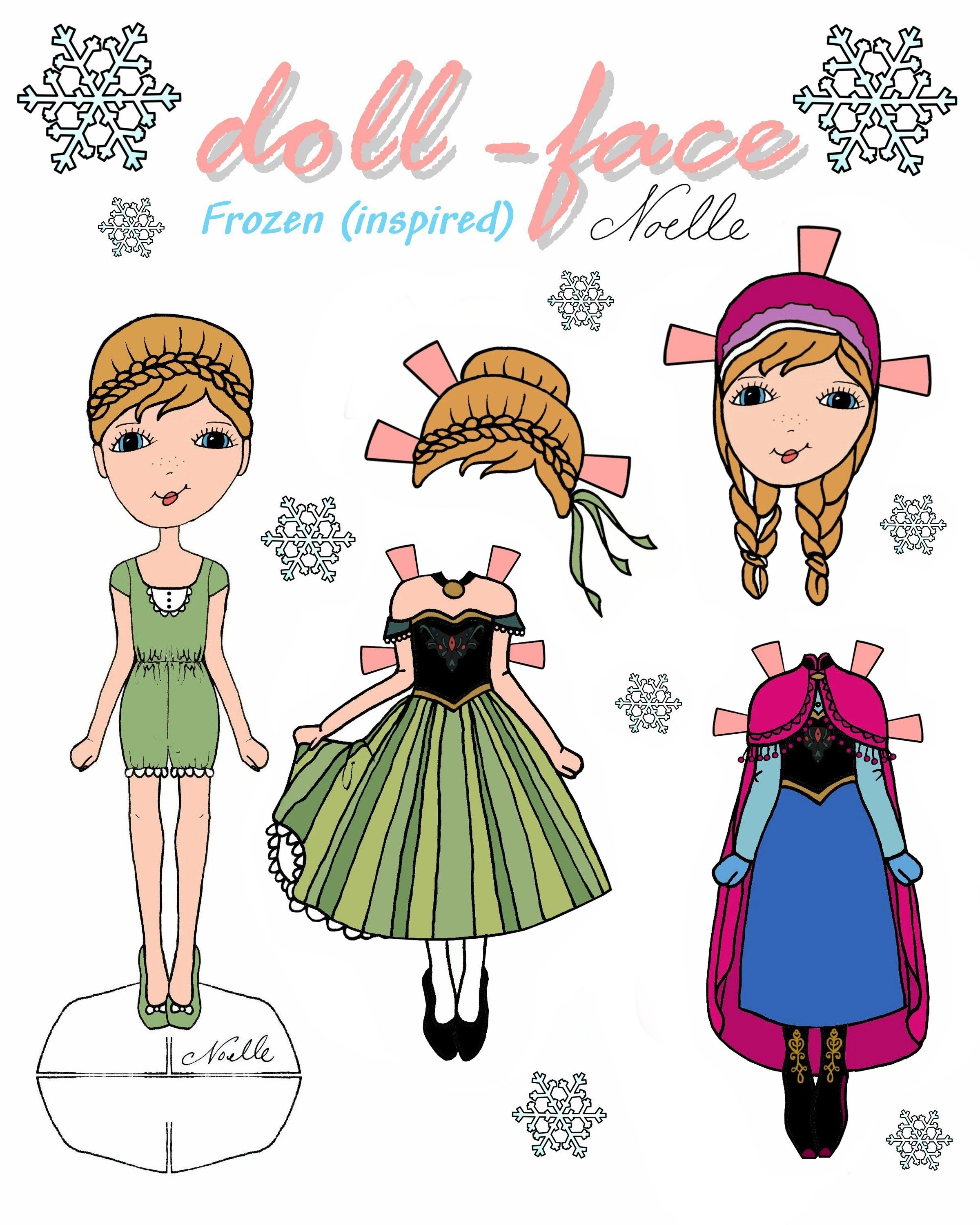 quot dollface quot Anna inspired paperdoll Perfect gift for a
