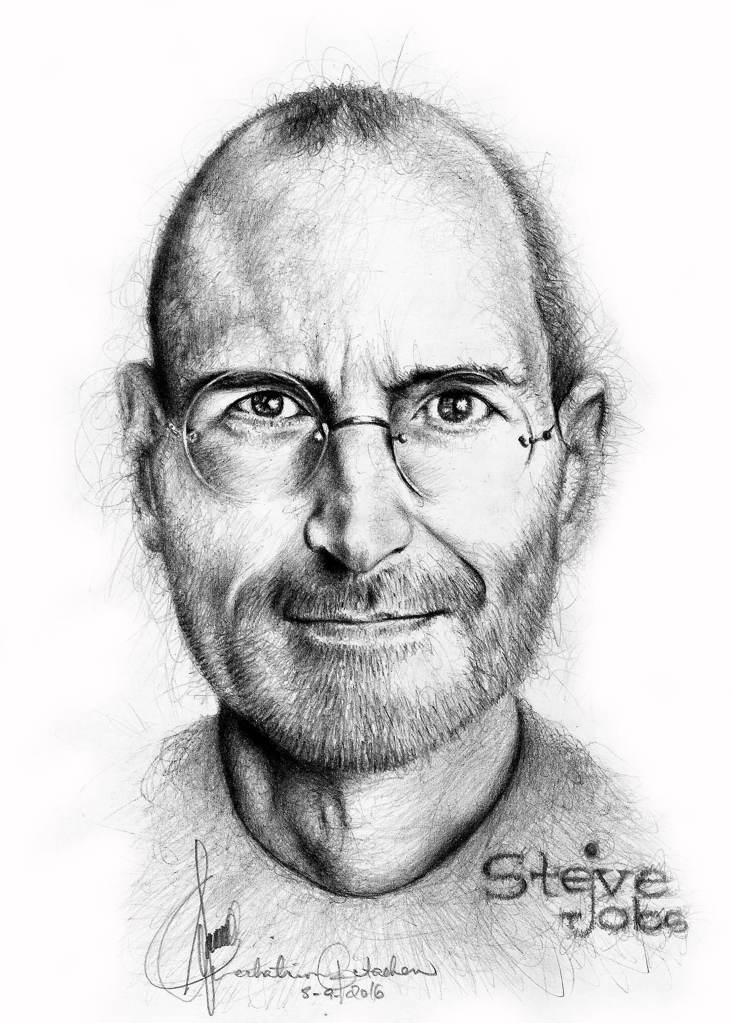 Steve jobs pencil illustration steve jobs pencil illustration pencil drawings graphite drawings