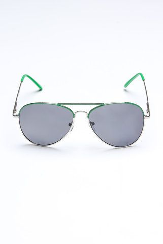 Sunglasses with green color pop