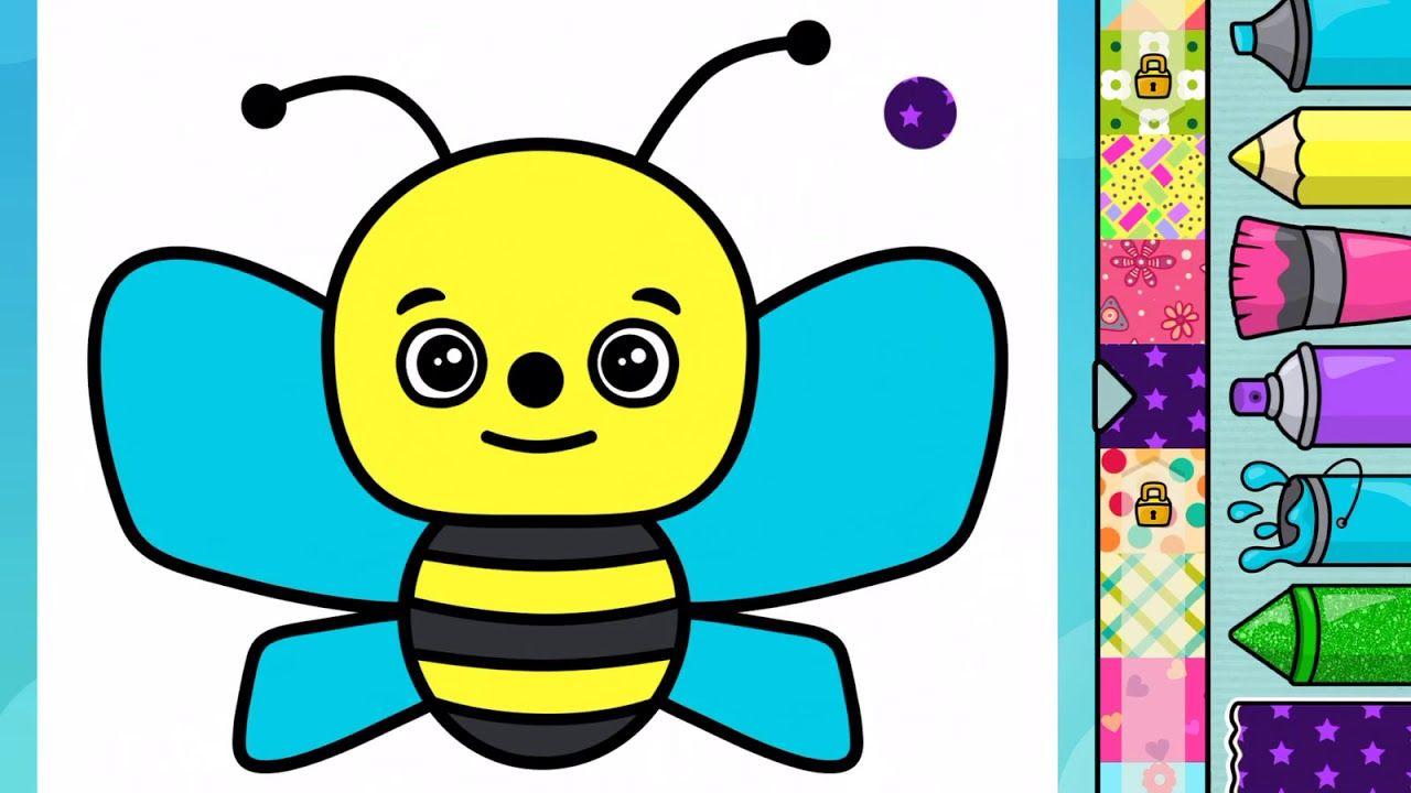Mewarnai Lebah Untuk Anak Anak Di 2020 Lebah Untuk Anak Anak Warna