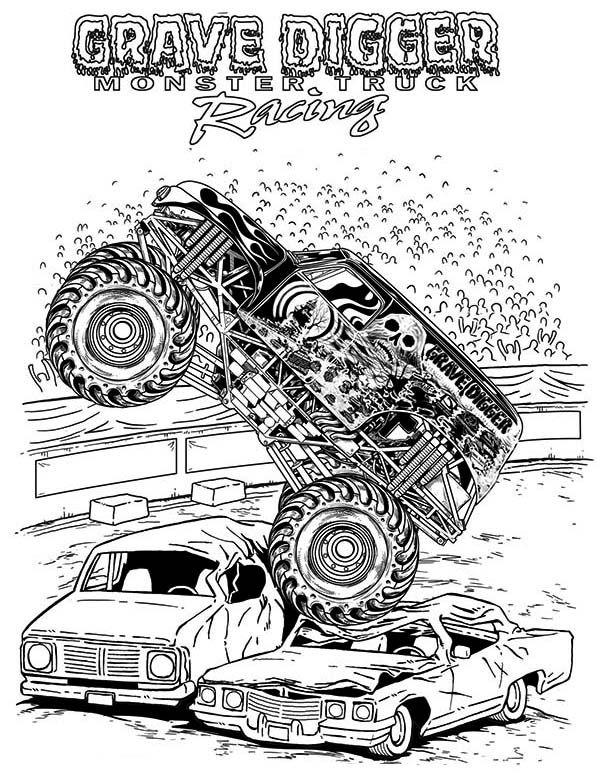Monster truck grave digger coloring pages ~ Monster Truck, Grave Digger Monster Truck Coloring Page: Grave Digger Monster Truck Coloring ...