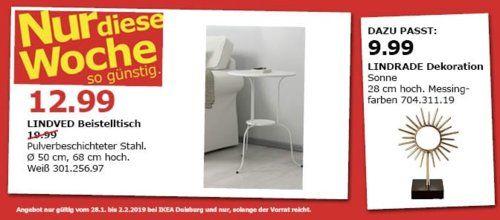 IKEA Duisburg - LINDVED Beistelltisch, weiß ...