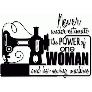 Silhouette Design Store Power Of One Woman Vinyl Sewing Quotes Sewing Humor Lettering