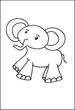 Ausmalbild Ab 3 Jahren Elefant Applikationen Pinterest