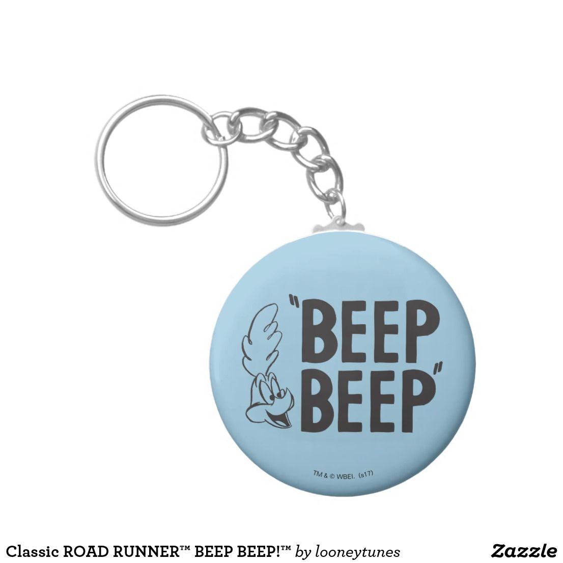 Classic ROAD RUNNER™ BEEP BEEP!™ Key Ring Zazzle.co.uk