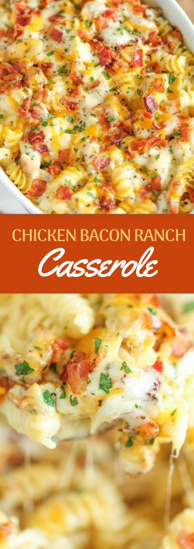 CHICKEN BACON RANCH CASSEROLE #baconranch #dinner #chicken images