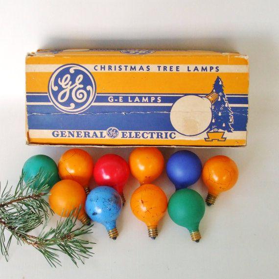 vintage General Electric Christmas lights, series G-14 | noël ...