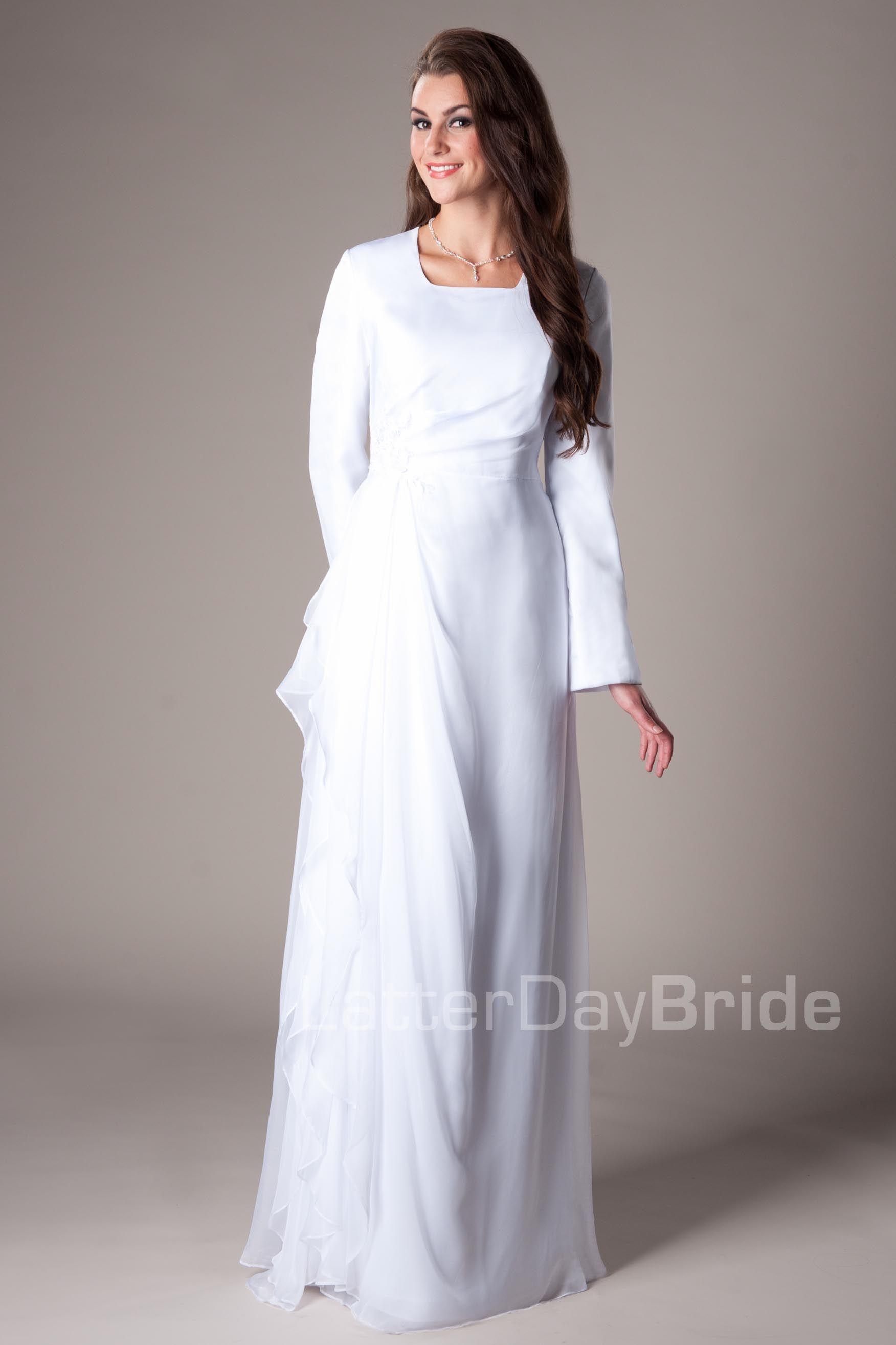 Cheap modest wedding dresses  Provo temple dress  Wedding  Pinterest  Temple dress Dresses and