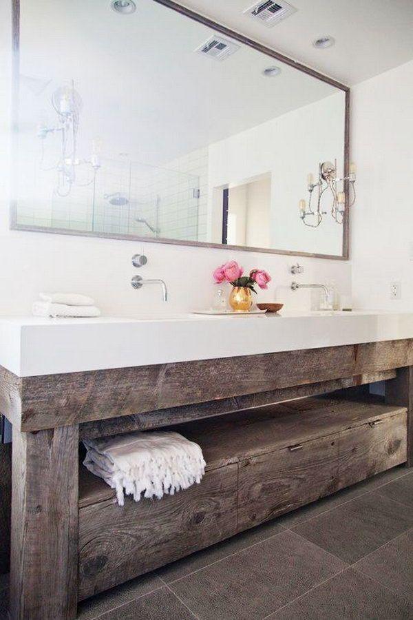Top Bathroom Decor Trends 2016 Bathroom Vanity Remodel Bathroom Inspiration Rustic Bathrooms
